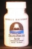 trans-Ferulic Acid 250 mg x 30 tablets