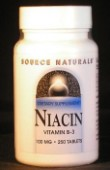 Vitamin B-3 (niacin) 100 mg x 250 tablets